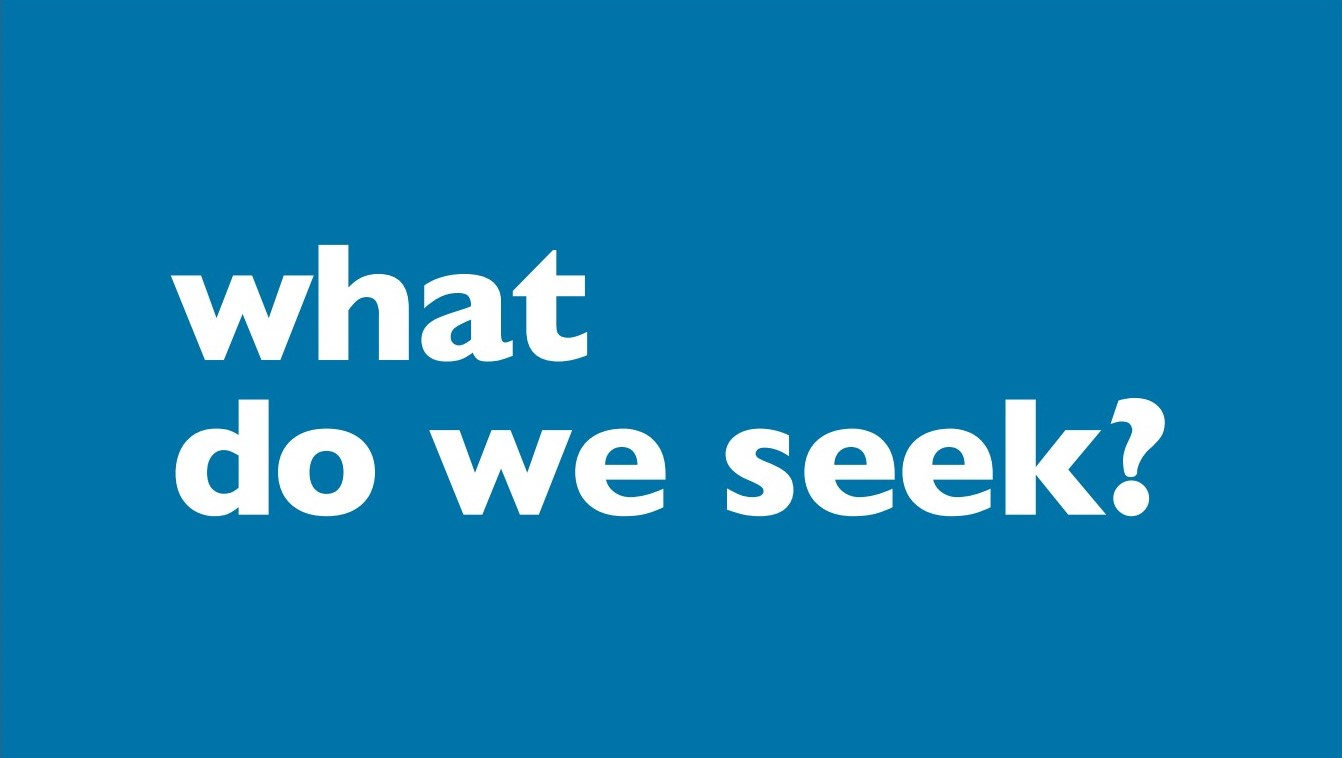 What do we seek graphic